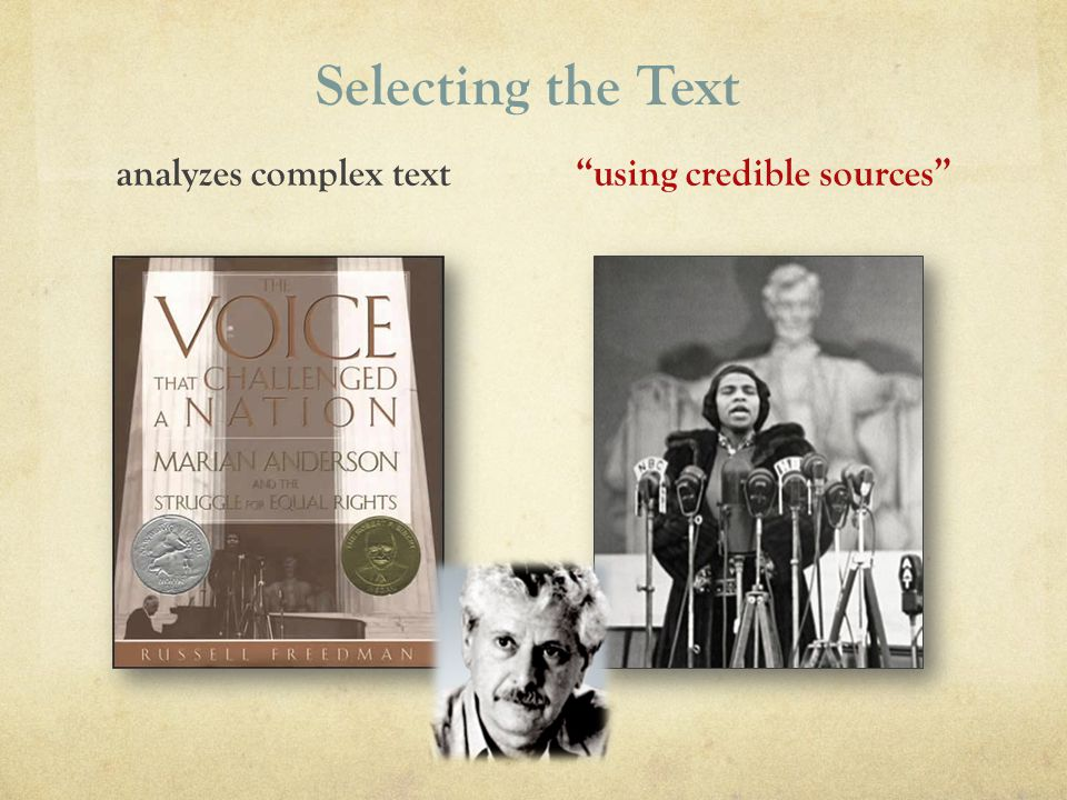 analyzes complex text using credible sources
