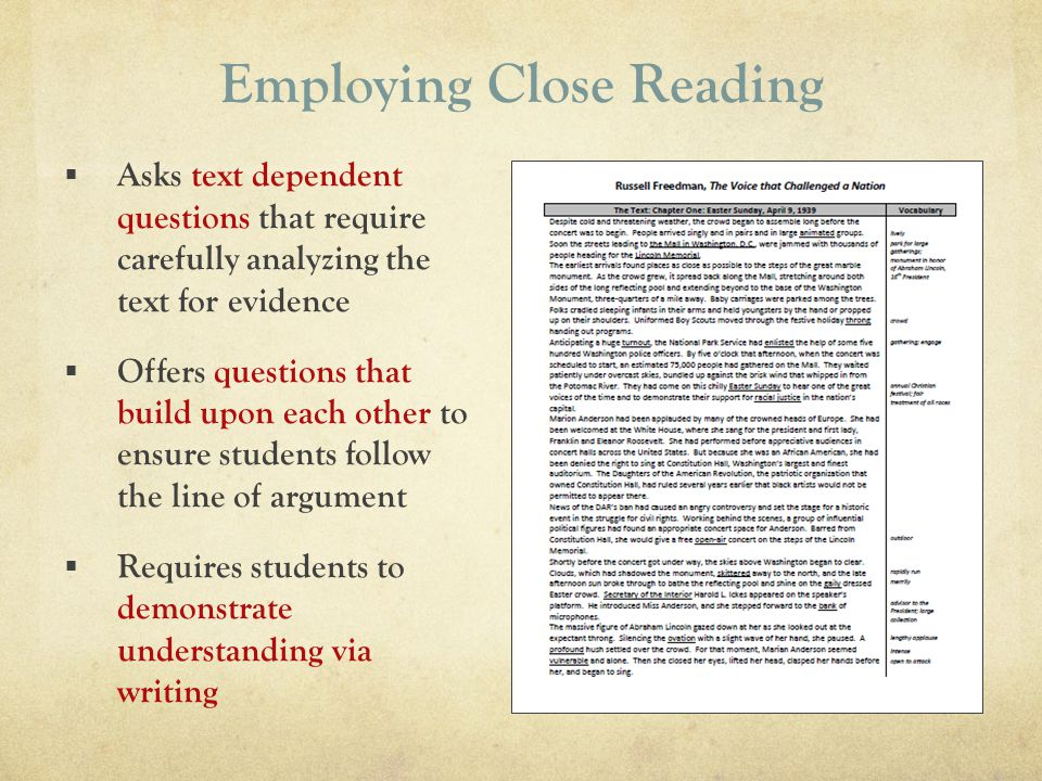 Employing Close Reading