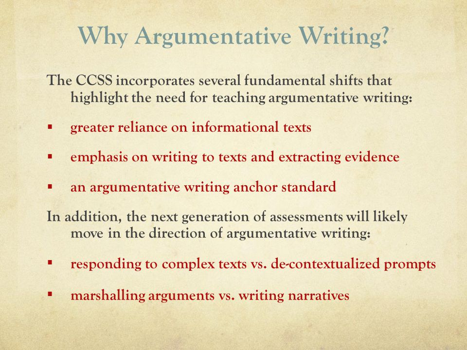 Why Argumentative Writing
