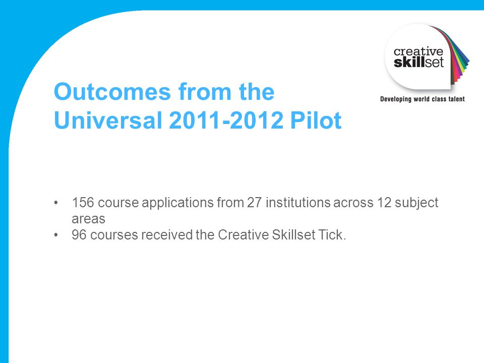 Outcomes from the Universal Pilot