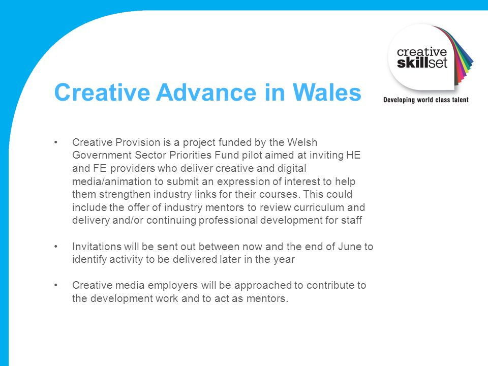 Creative Advance in Wales