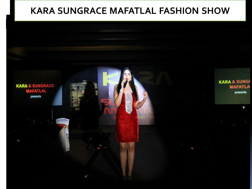 KARA SUNGRACE MAFATLAL FASHION SHOW
