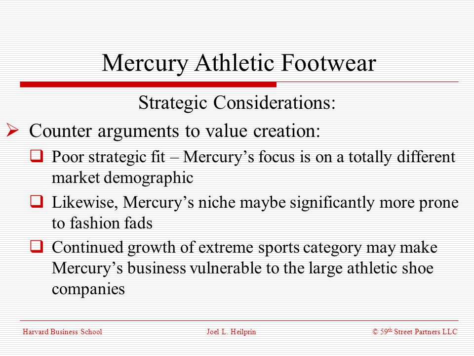 mercury athletic case