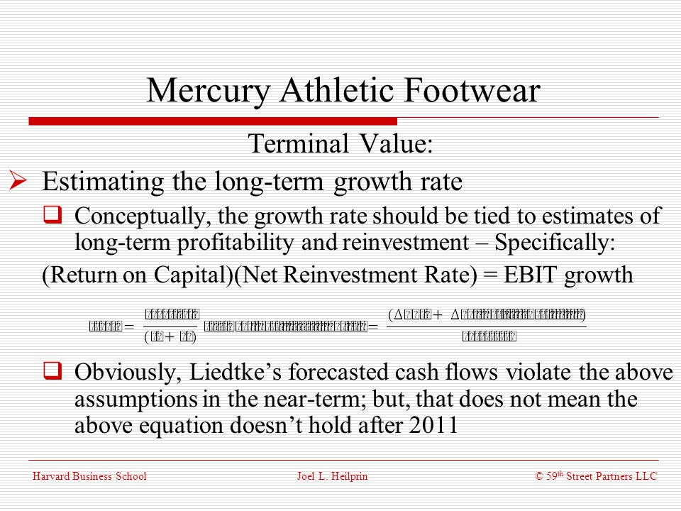 mercury athletic footwear wacc Get the best solution to the case study mercury athletic valuing the opportunity-timothy a luehrman-joel l heilprin-best-case-study-solution.