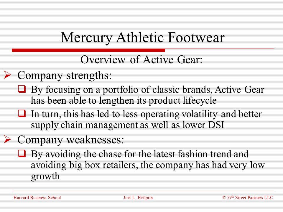 mercury athletic footwear 2 essay