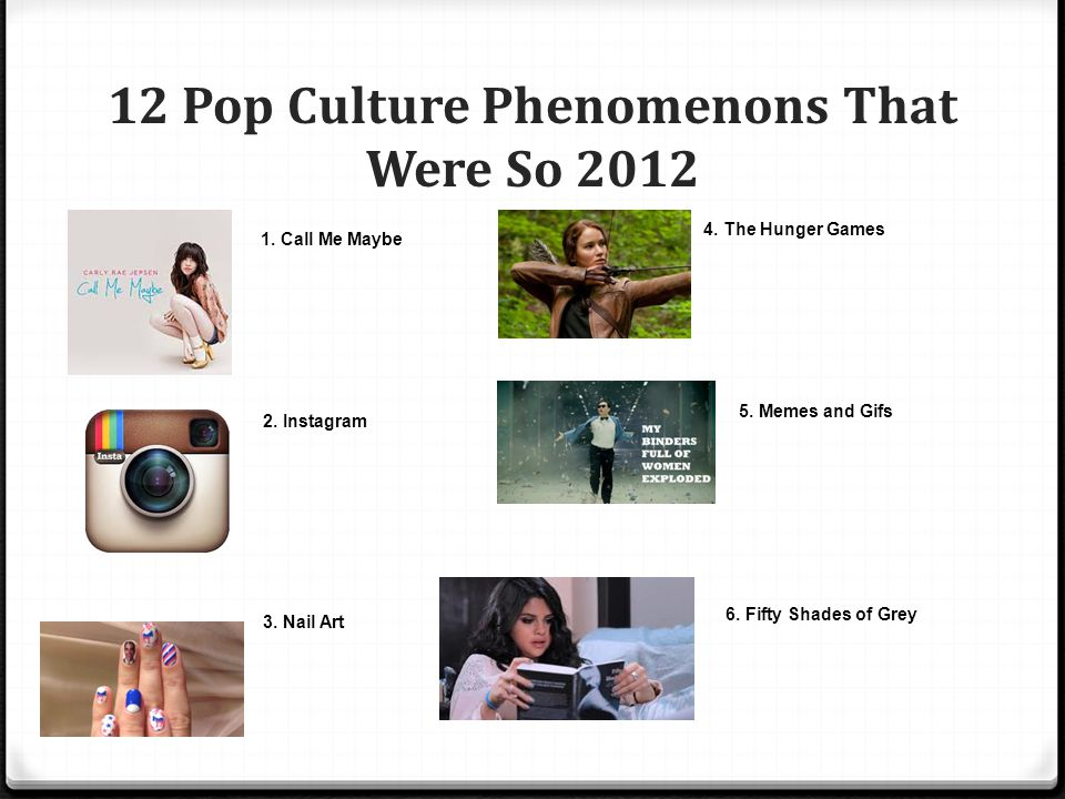 12 Pop Culture Phenomenons That Were So 2012