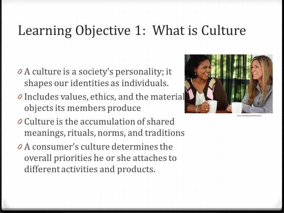 Learning Objective 1: What is Culture