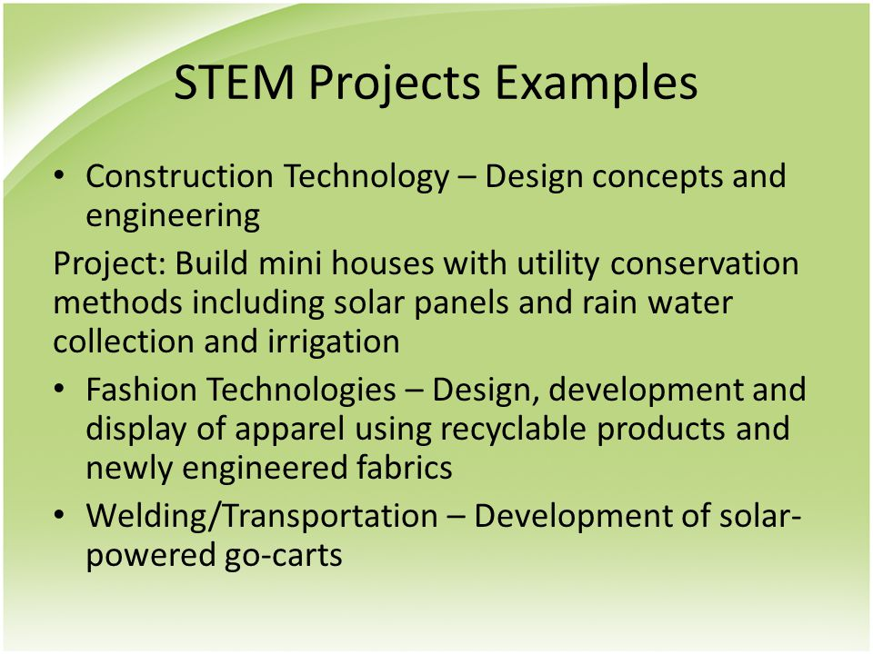 STEM Projects Examples