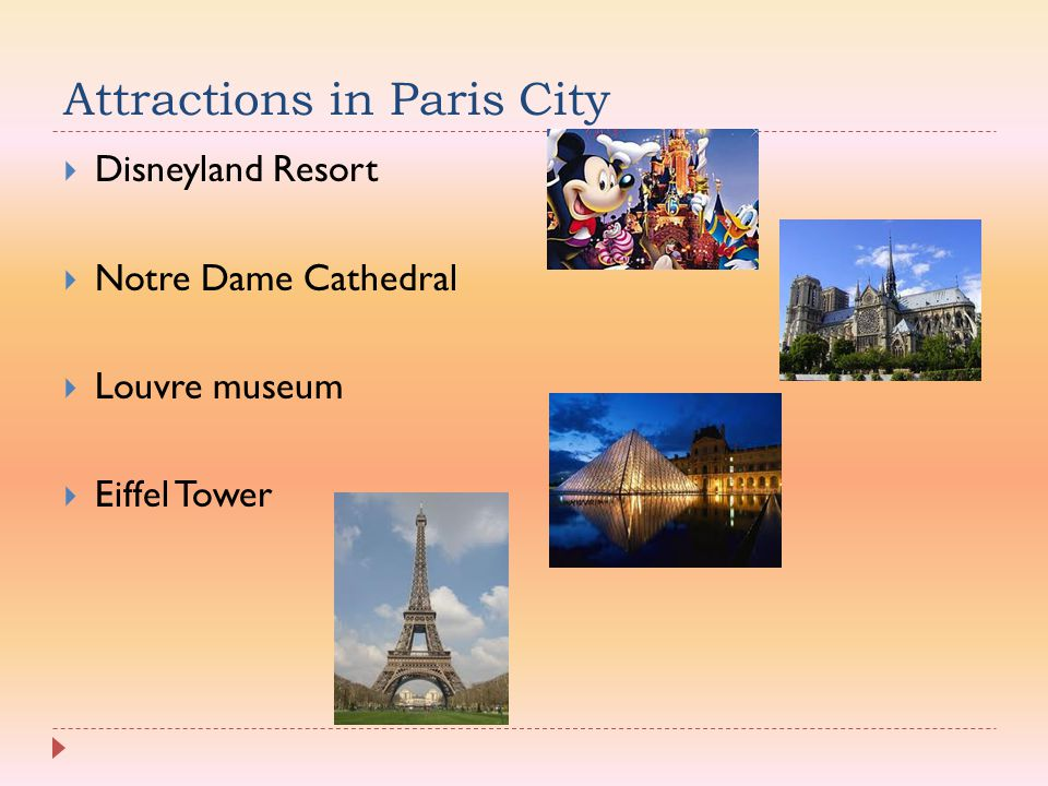 Attractions in Paris City