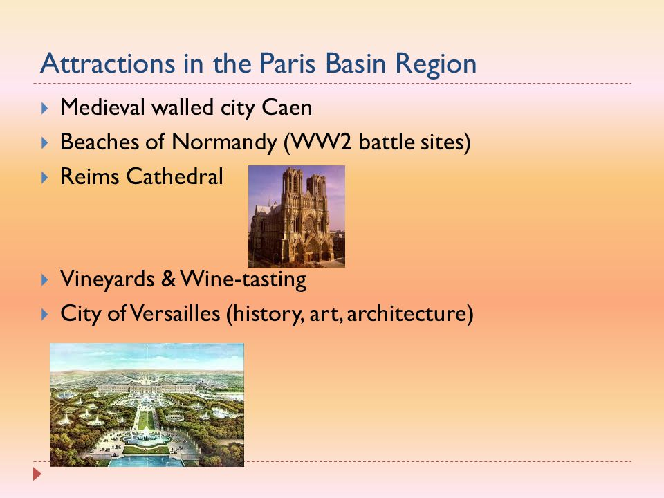 Attractions in the Paris Basin Region