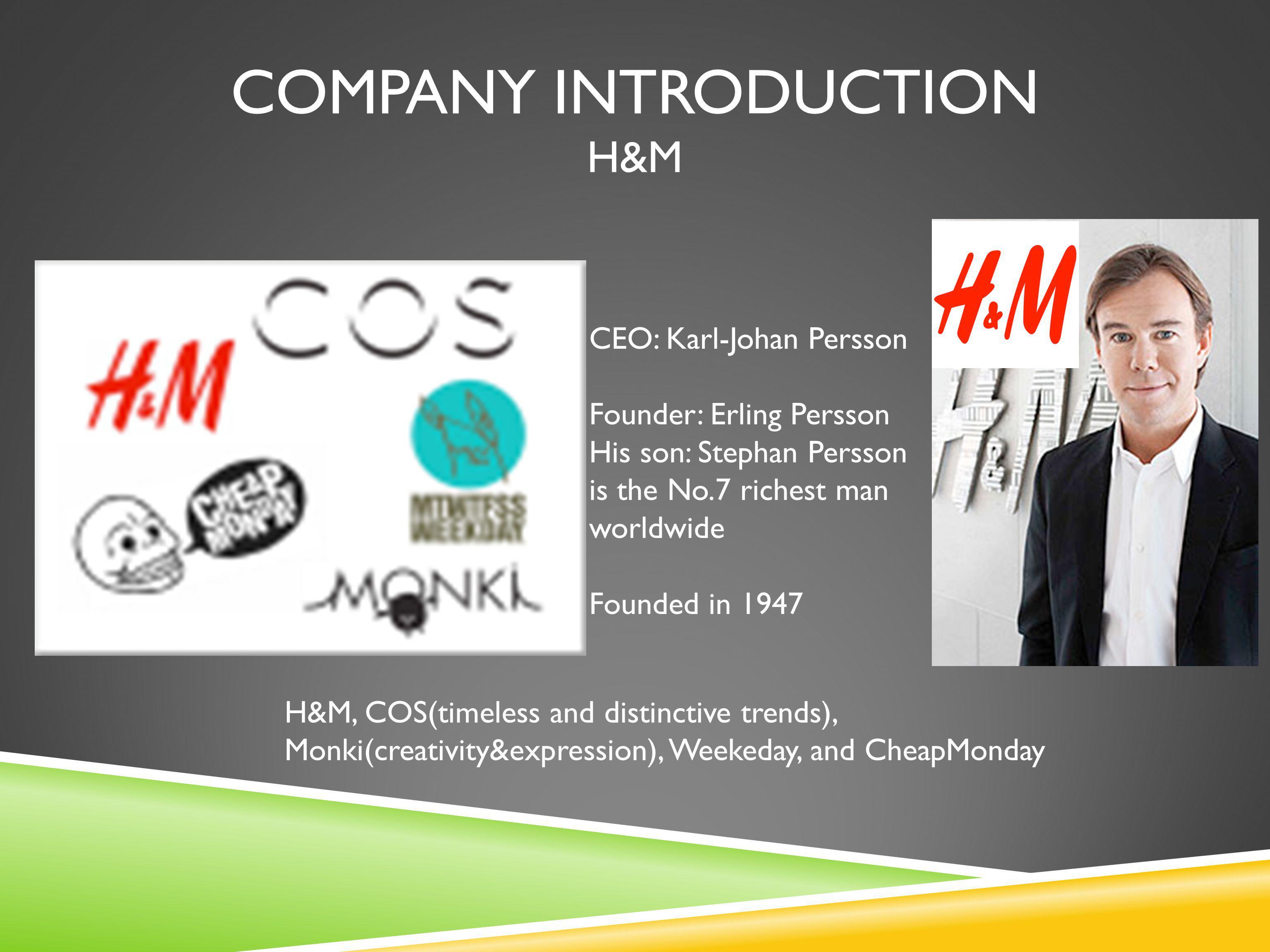 Company INTRODUCTION H&M
