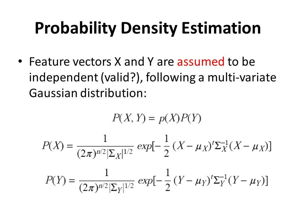 Probability Density Estimation