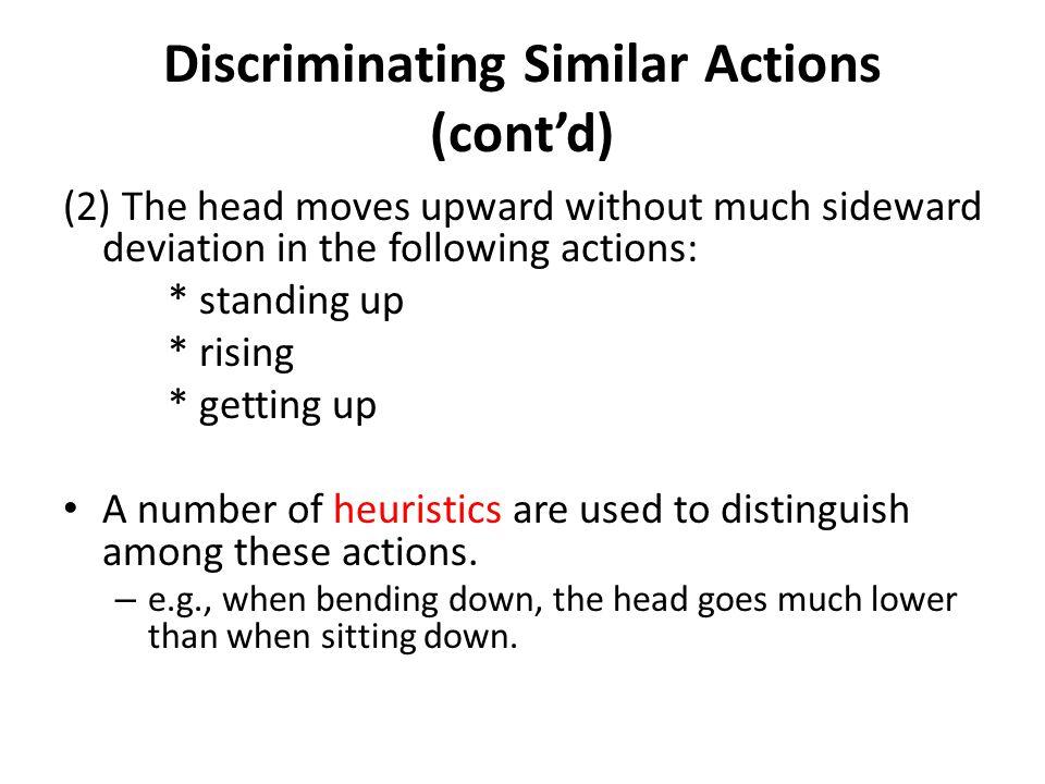 Discriminating Similar Actions (cont'd)