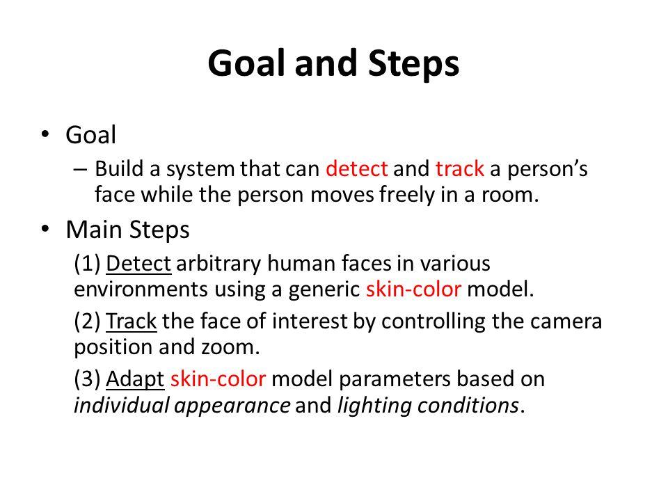 Goal and Steps Goal Main Steps