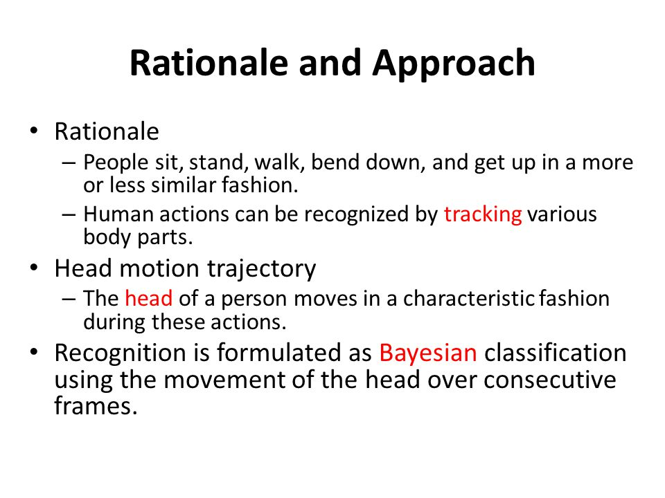 Rationale and Approach