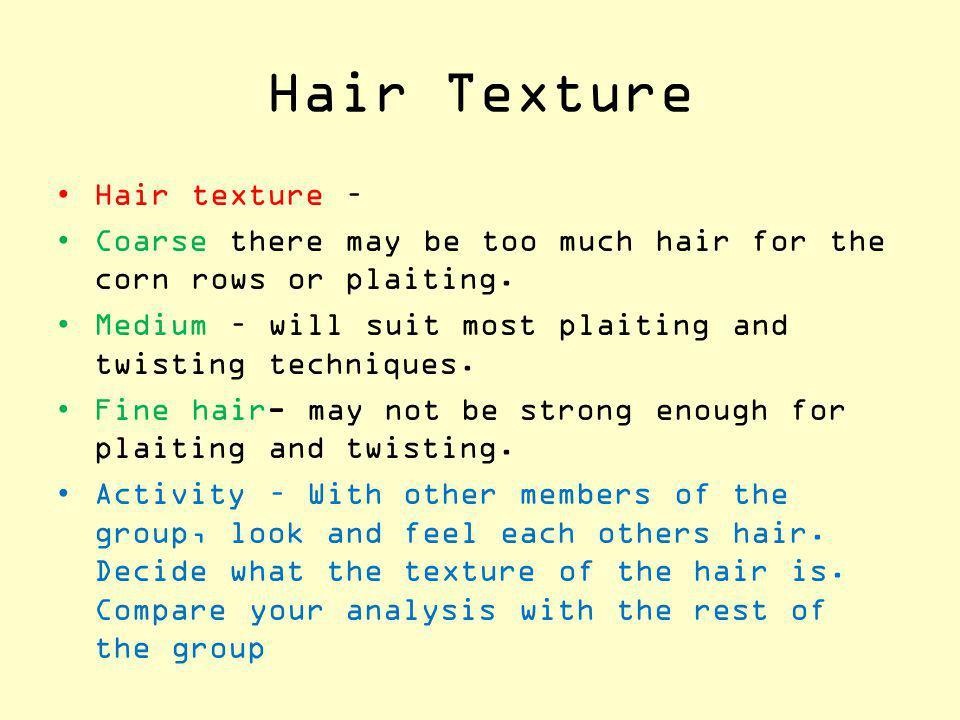 Hair Texture Hair texture –