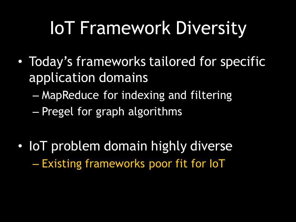 IoT Framework Diversity