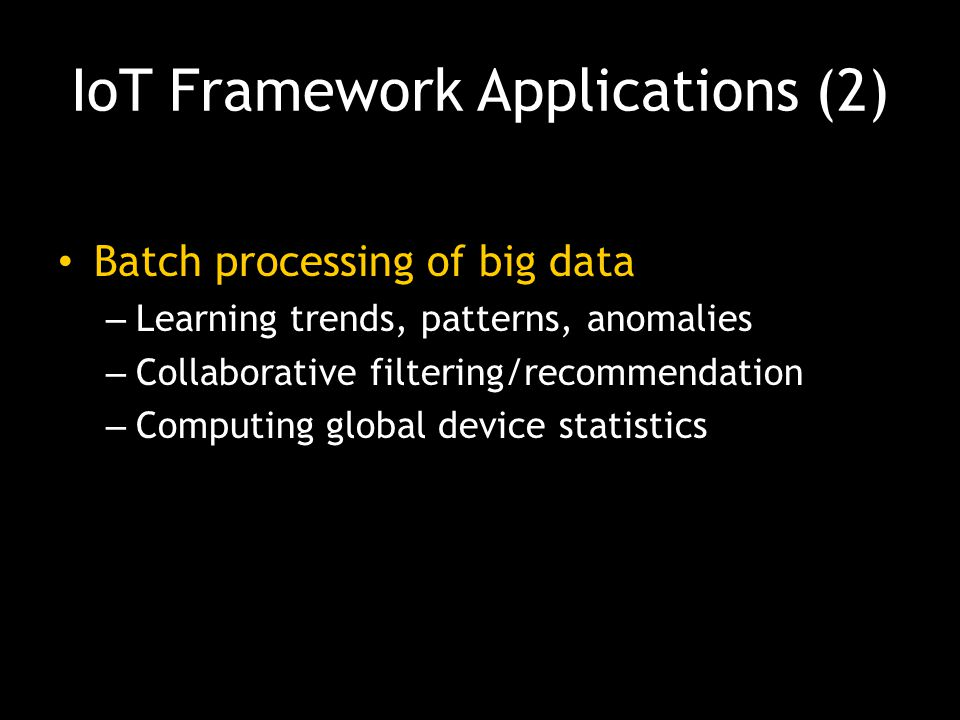 IoT Framework Applications (2)