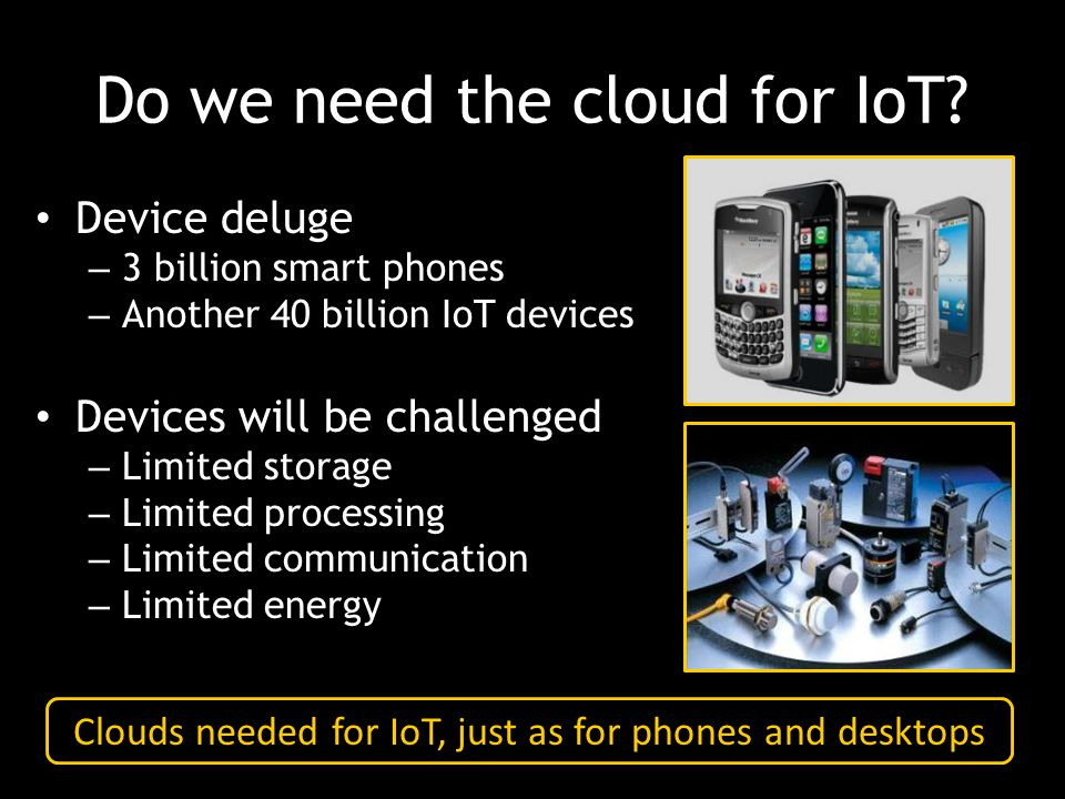 Do we need the cloud for IoT