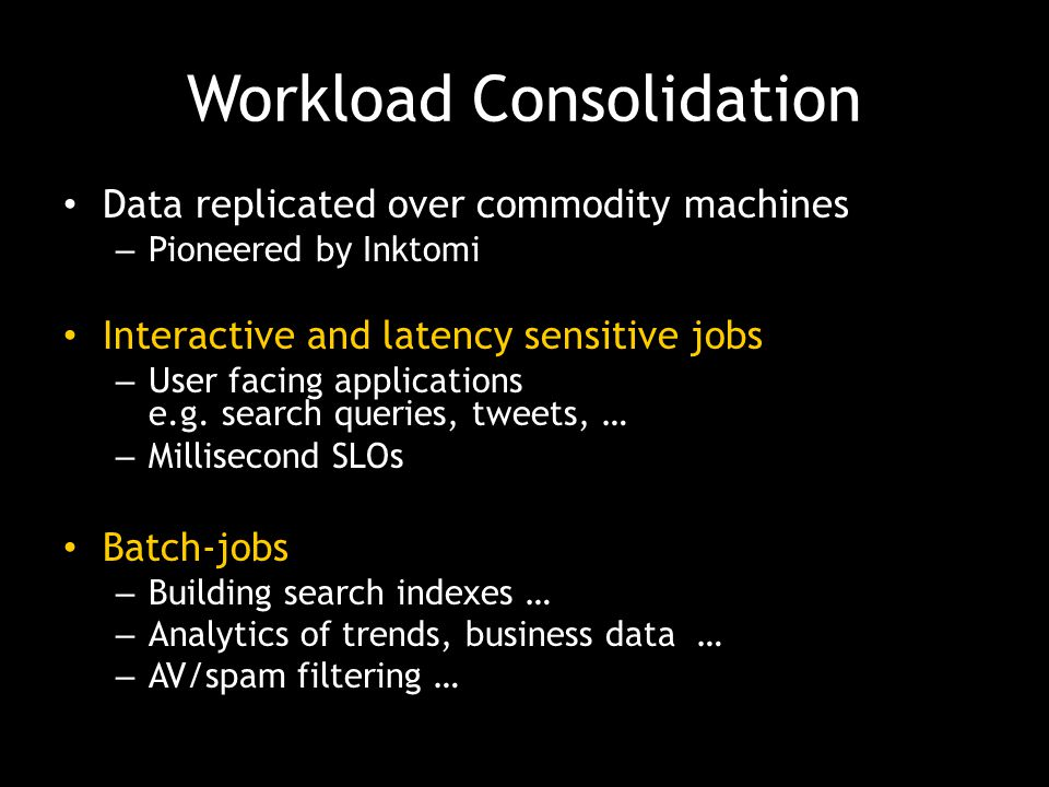 Workload Consolidation