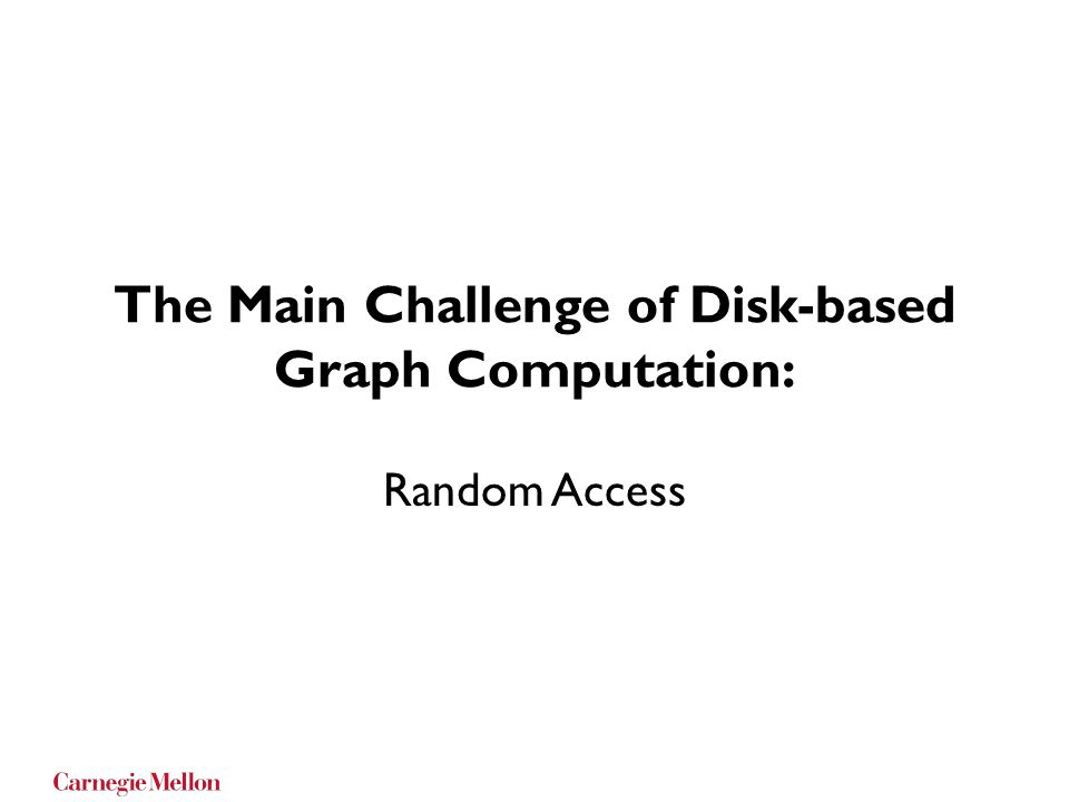 The Main Challenge of Disk-based Graph Computation: