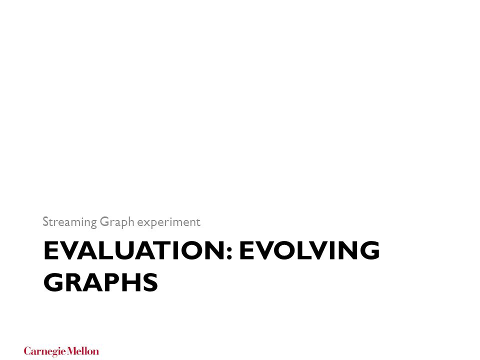 Evaluation: Evolving Graphs