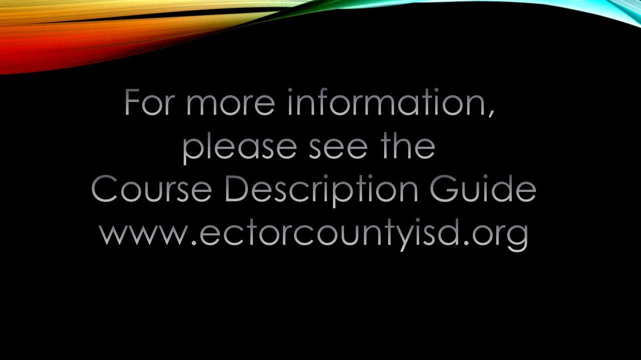 Course Description Guide