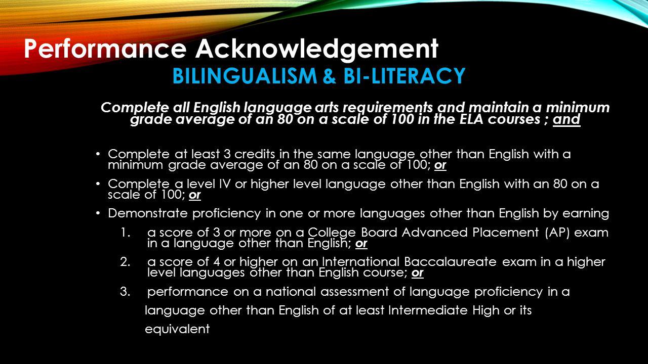 bilingualism & bi-literacy