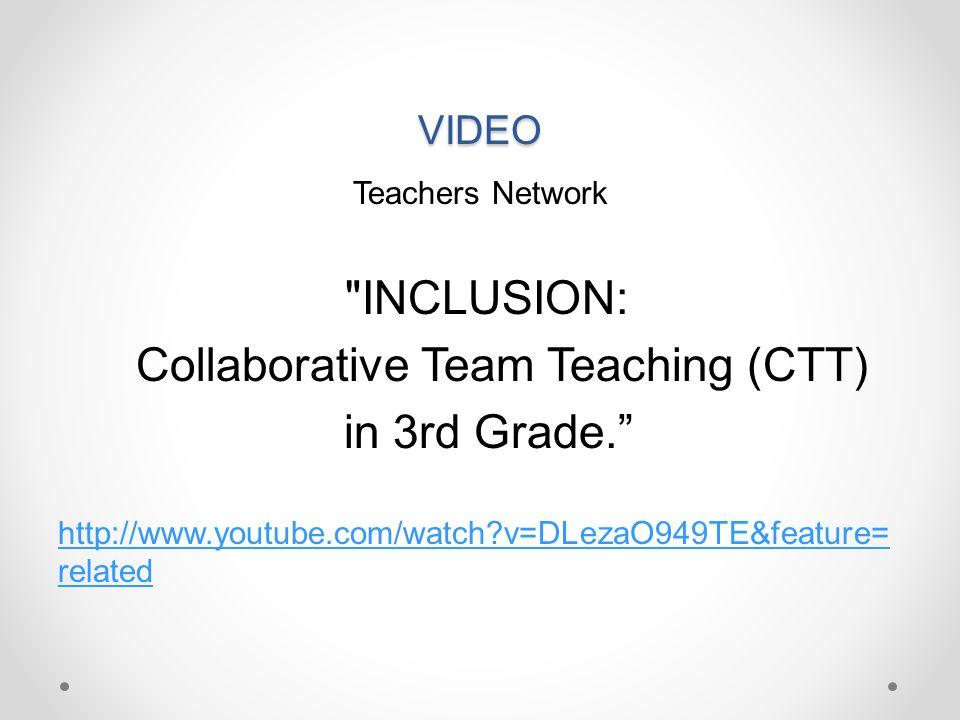Collaborative Team Teaching (CTT) in 3rd Grade.