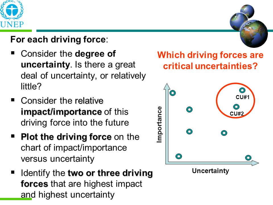 Which driving forces are critical uncertainties