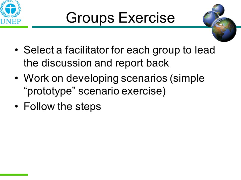 Groups Exercise Select a facilitator for each group to lead the discussion and report back.