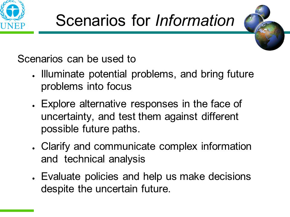 Scenarios for Information