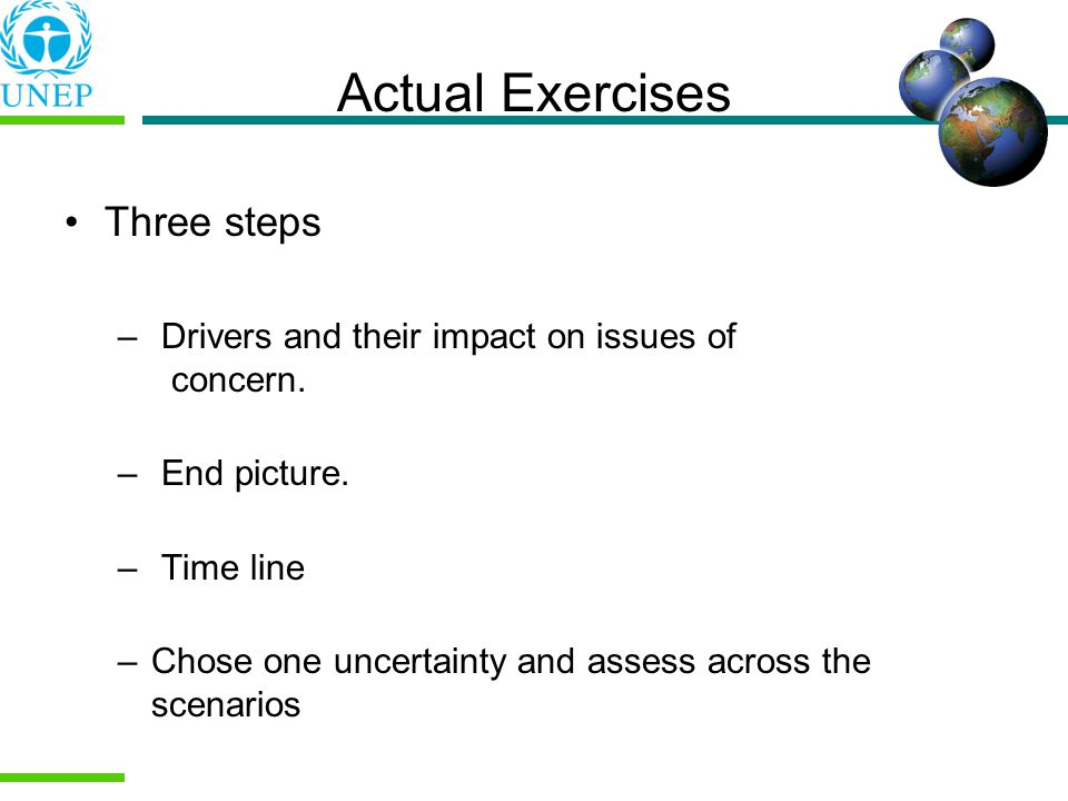 Actual Exercises Three steps