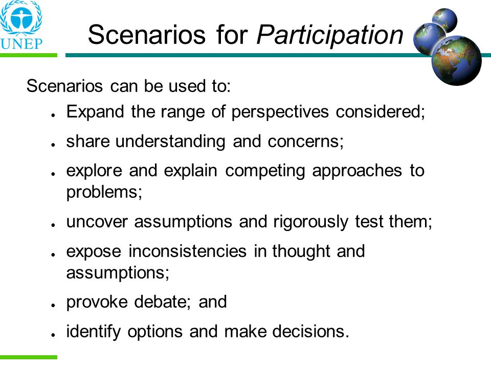 Scenarios for Participation