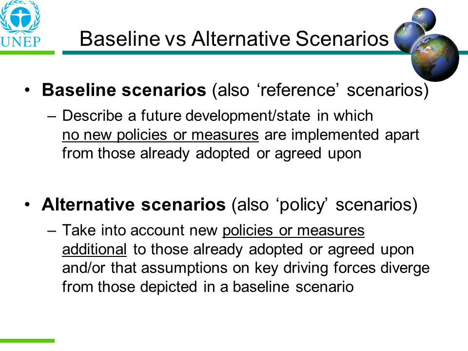 Baseline vs Alternative Scenarios