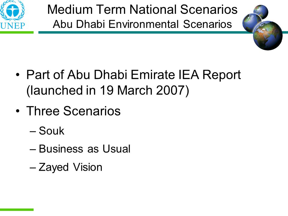 Medium Term National Scenarios Abu Dhabi Environmental Scenarios