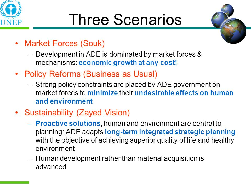 Three Scenarios Market Forces (Souk)