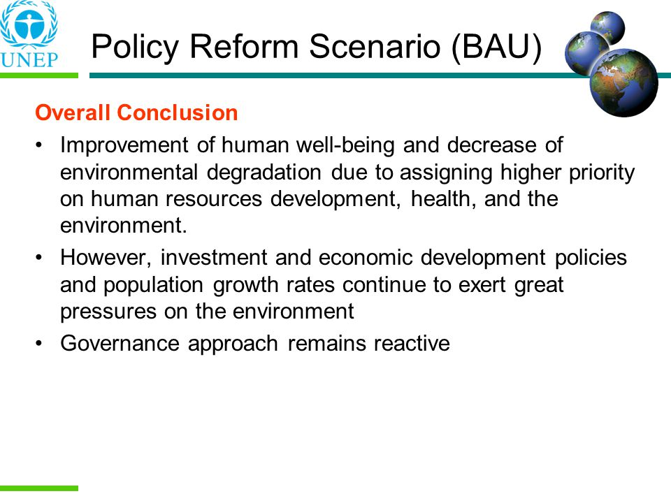 Policy Reform Scenario (BAU)