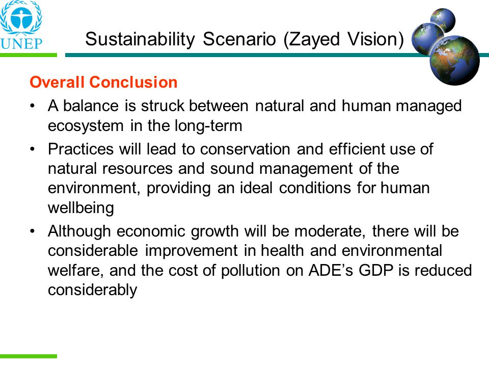 Sustainability Scenario (Zayed Vision)