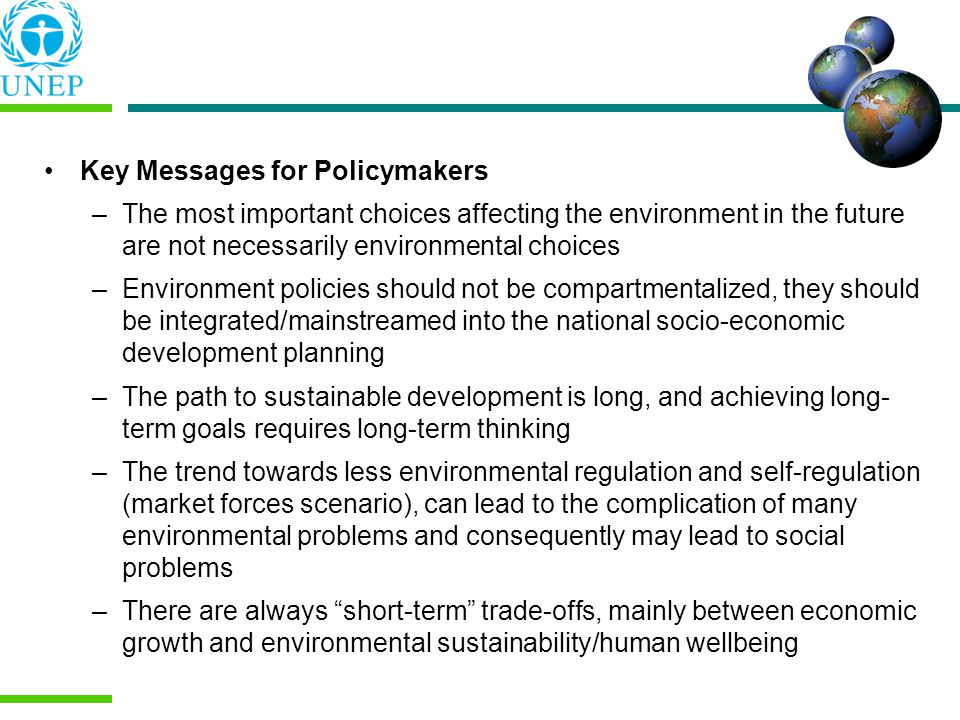 Key Messages for Policymakers