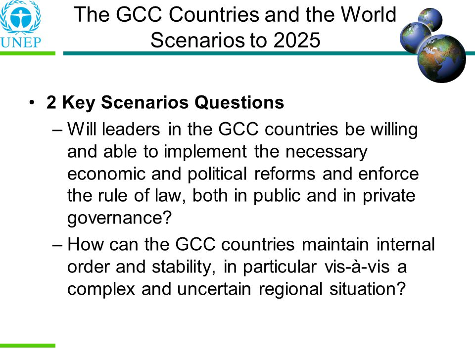 The GCC Countries and the World Scenarios to 2025