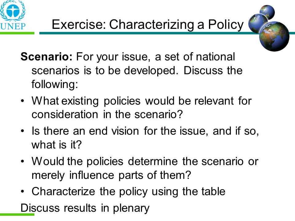 Exercise: Characterizing a Policy