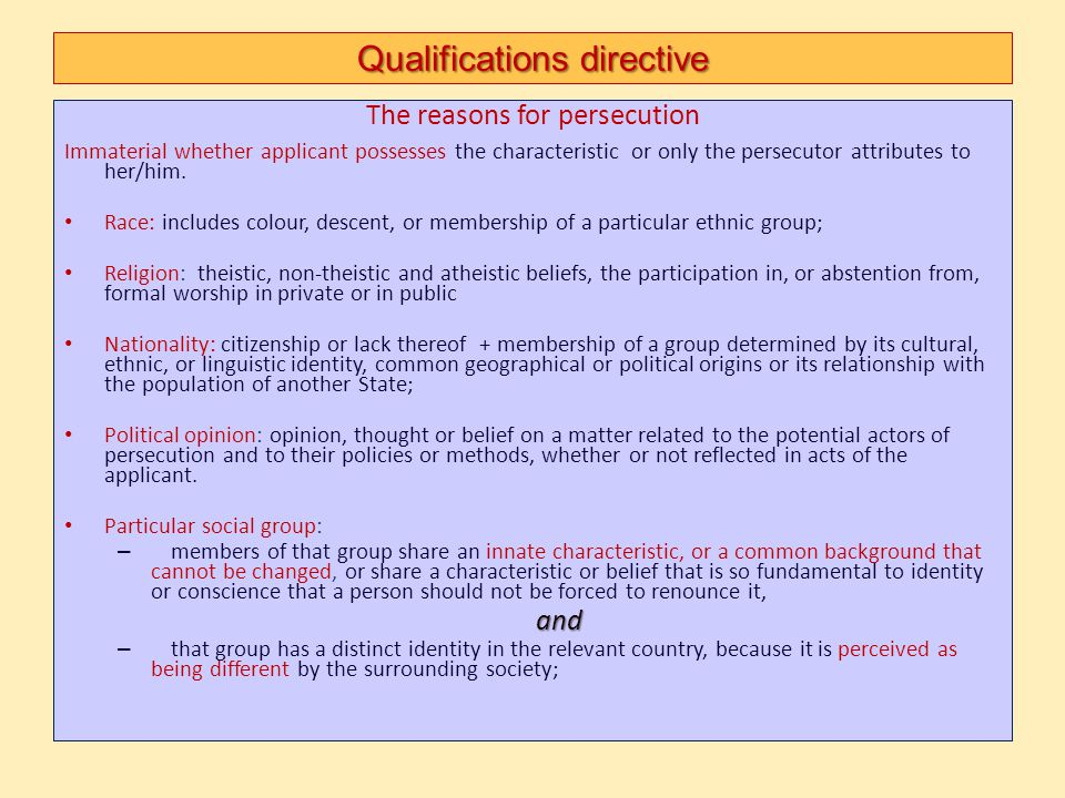 Qualifications directive