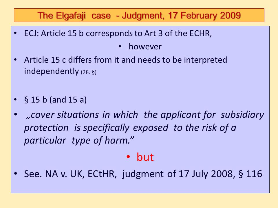 The Elgafaji case - Judgment, 17 February 2009