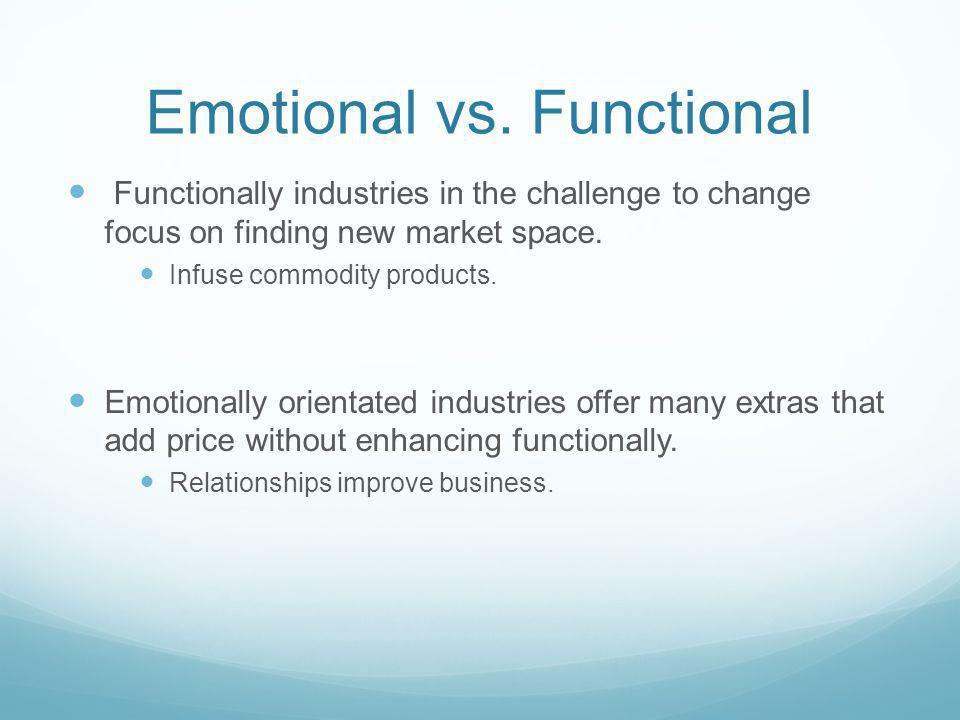 Emotional vs. Functional