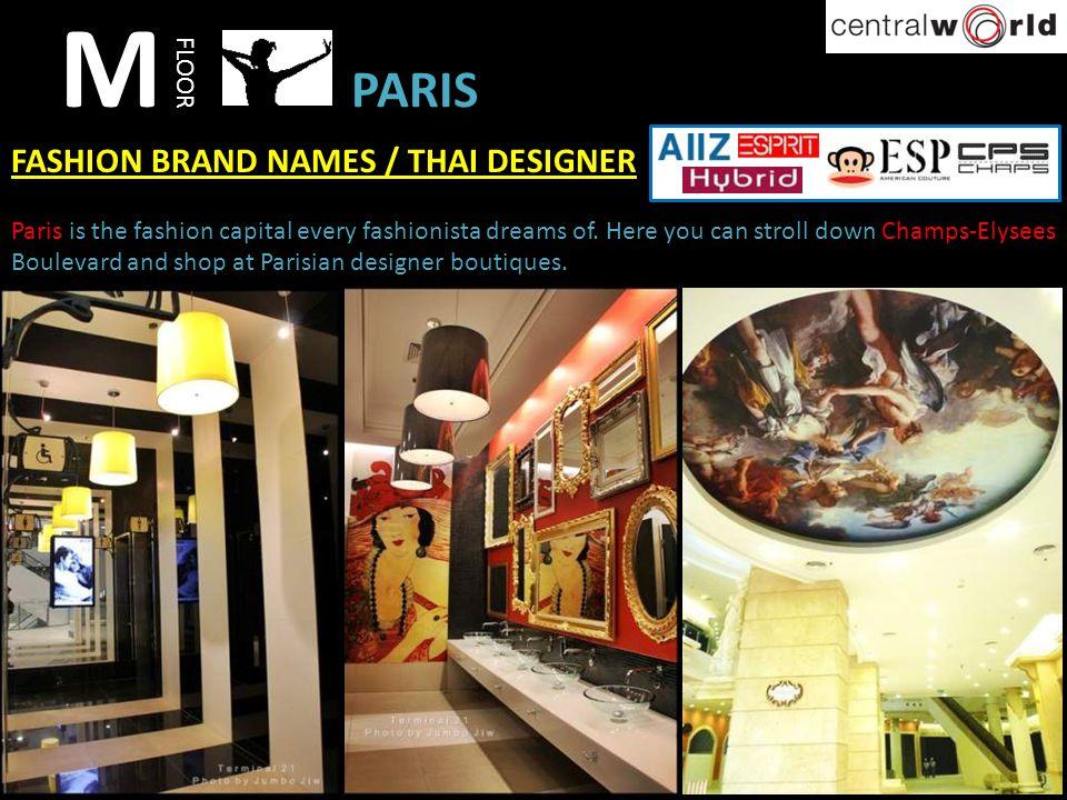 M PARIS FASHION BRAND NAMES / THAI DESIGNER FLOOR