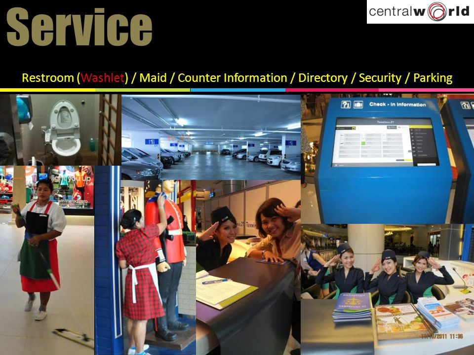 Service Restroom (Washlet) / Maid / Counter Information / Directory / Security / Parking