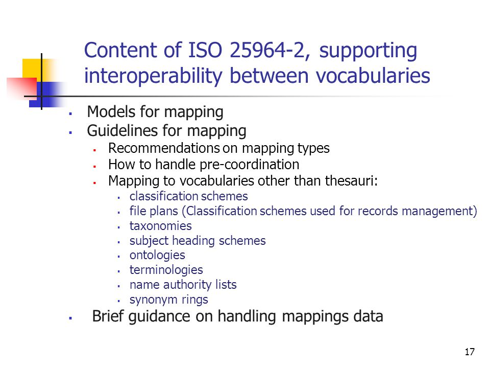 Content of ISO , supporting interoperability between vocabularies