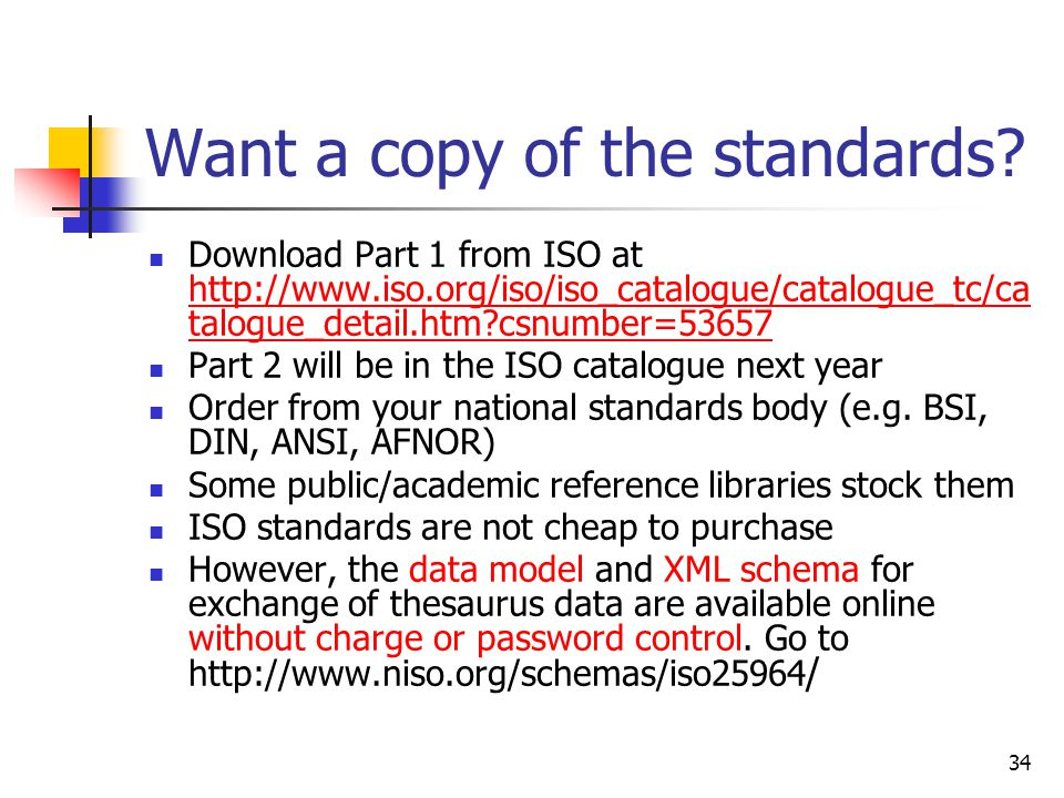 Want a copy of the standards