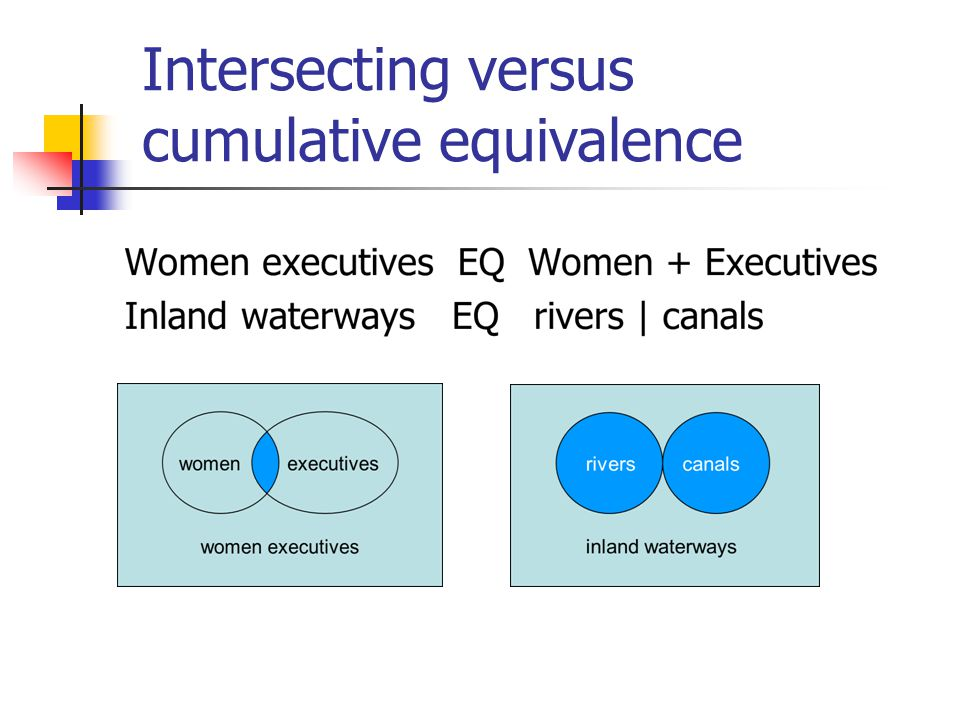 Intersecting versus cumulative equivalence